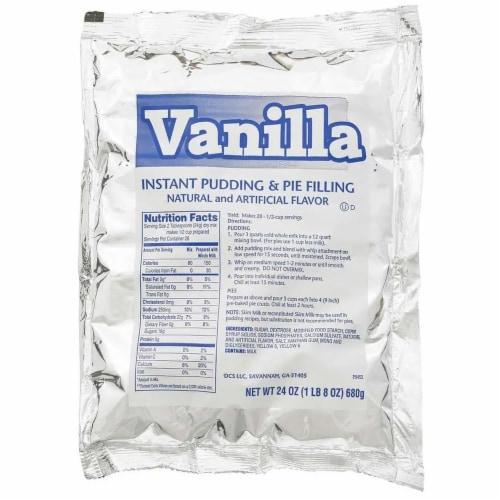 Chefs Companion Instant Vanilla Pudding Mix, 24 Ounce -- 12 per case. Perspective: front