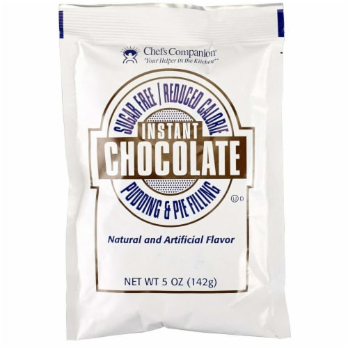 Chefs Companion Sugar Free Instant Chocolate Pudding Mix, 5 Ounce -- 12 per case. Perspective: front
