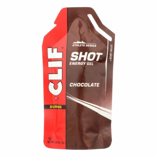 Clif Bar Clif Shot - Chocolate - Case of 24 - 1.2 oz Perspective: front