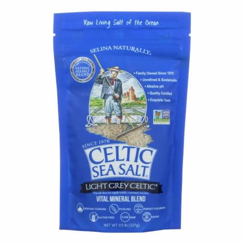 Celtic Sea Salt Light Grey - Case of 6 - 0.5 Lb. Perspective: front