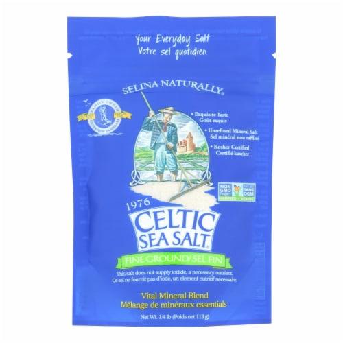 Celtic Sea Salt - Reseal Bag Fine Ground - Case of 6 - .25 LB Perspective: front
