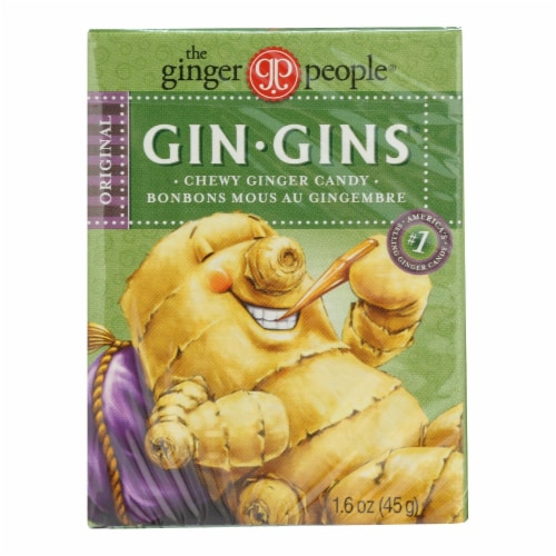 Ginger People Gingins Chewy Original Travel Packs - Case of 24 - 1.6 oz Perspective: front