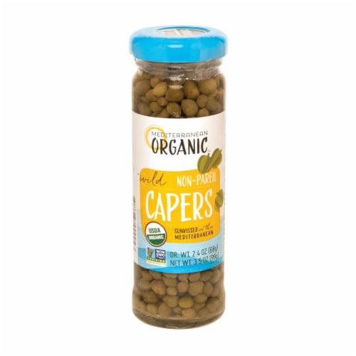 Mediterranean Organic Organic Wild Capers Non-Pareil - Case of 24 - 3.5 OZ Perspective: front