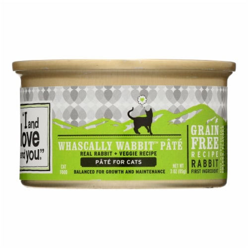 I and Love and You Canned Cat Food - Wabbit Pate - Case of 24 - 3 oz Perspective: front
