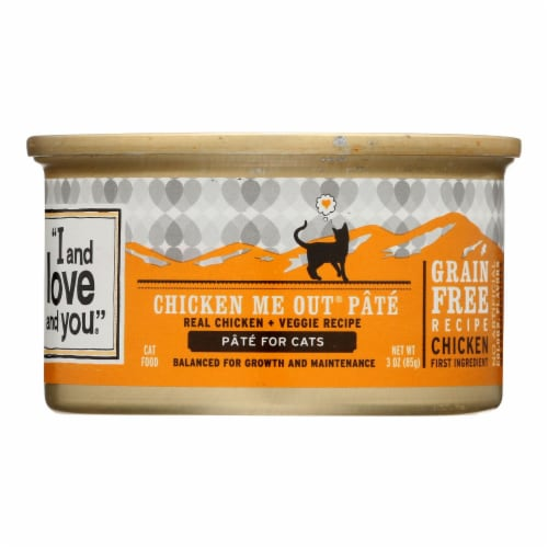 I and Love and You Chicken Me Out - Wet Food - Case of 24 - 3 oz. Perspective: front