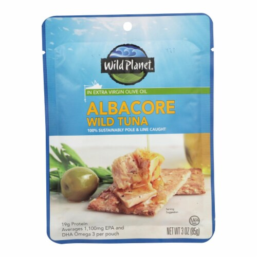 Wild Planet - Tuna Wld Albacore In Evoo - Case of 24 - 3 OZ Perspective: front