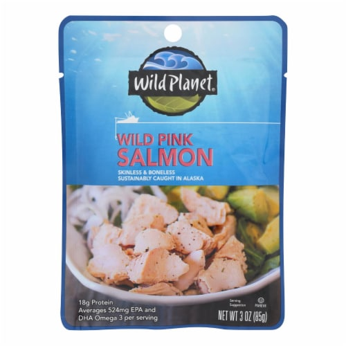 Wild Planet - Salmon Wild Pink - Case of 24 - 3 OZ Perspective: front