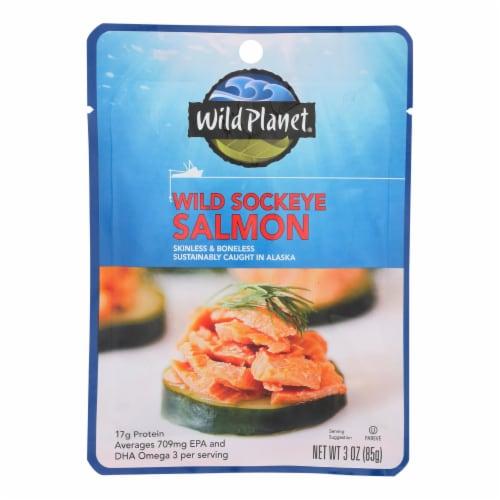 Wild Planet - Salmon Wild Sockeye - Case of 24 - 3 OZ Perspective: front