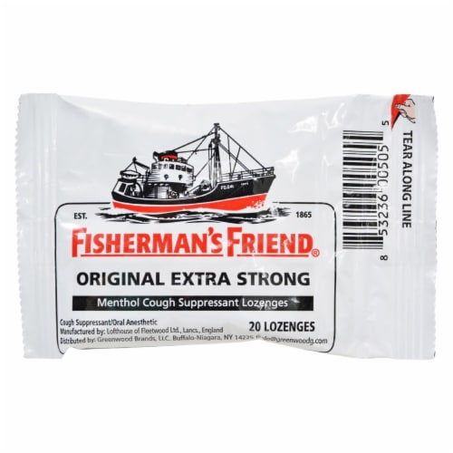 Fisherman's Friend Lozenges - Original Extra Strong - Dsp - 20 ct - 1 Case Perspective: front