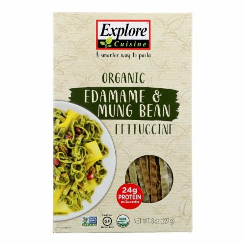 Explore Cuisine - Fettuccine Pasta - Edamame & Mung Bean - Case of 6 - 8 oz. Perspective: front