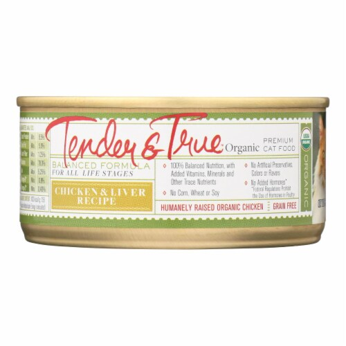 Tender & True Cat Food, Chicken And Liver - Case of 24 - 5.5 OZ Perspective: front