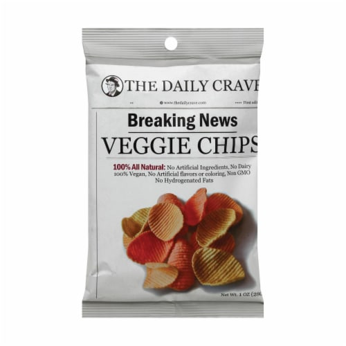 The Daily Crave Veggie Chips - Case of 24 - 1 oz. Perspective: front