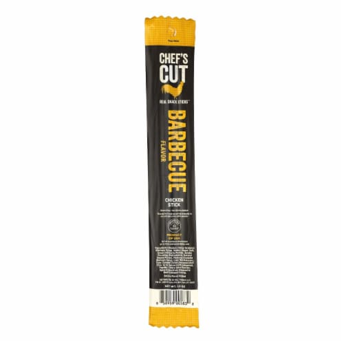 Chef's Cut Real Jerky Real Snack Sticks Barbecue  - Case of 48 - 1 OZ Perspective: front