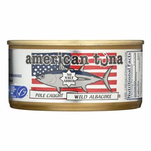 American Tuna - Canned Tune - No Salt - Case Of 24 - 6 Oz Perspective: front