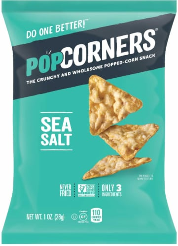 Popcorners Sea Salt Popped Corn Chips, 1 Ounce -- 40 per case Perspective: front