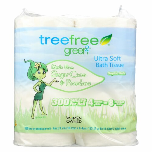 Green2 Bathroom Tissue - Case of 24 Perspective: front