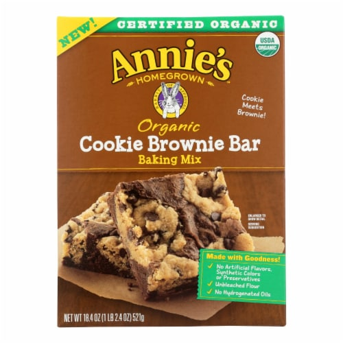 Make Annie's Cookie Bars, Brownie And  - Case of 8 - 18.4 OZ Perspective: front