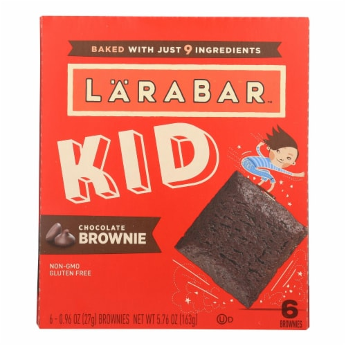 Larabar - Bar Kids Chocolate Brownie - Case of 8-6/.96 oz Perspective: front