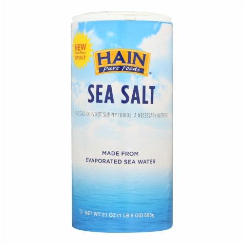 Hain Sea Salt - Case of 8 - 21 oz Perspective: front