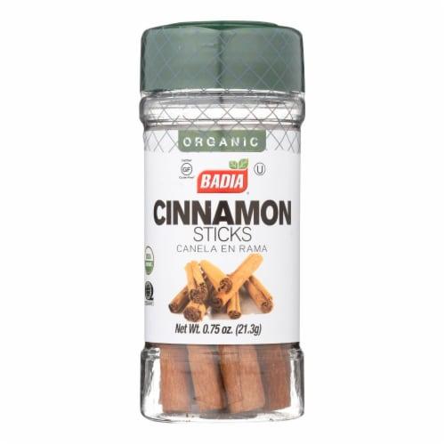 Badia Organic Cinnamon Sticks - Case of 8 - .75 OZ Perspective: front
