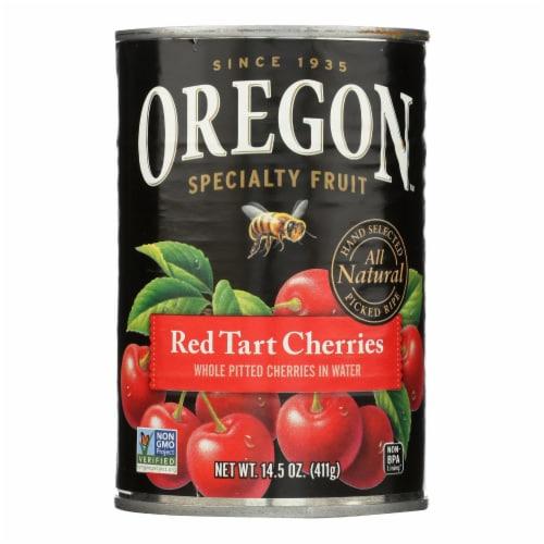 Oregon Fruit Red Tart Cherries In Water - Case of 8 - 14.5 oz. Perspective: front