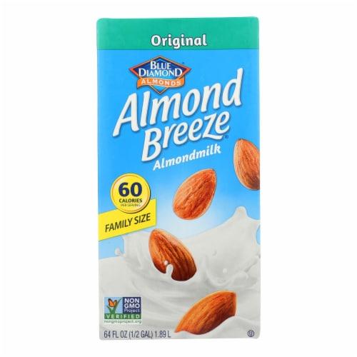 Almond Breeze - Almond Milk - Original - Case of 8 - 64 fl oz. Perspective: front