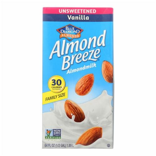 Almond Breeze - Almond Milk - Unsweetened Vanilla - Case of 8 - 64 fl oz. Perspective: front