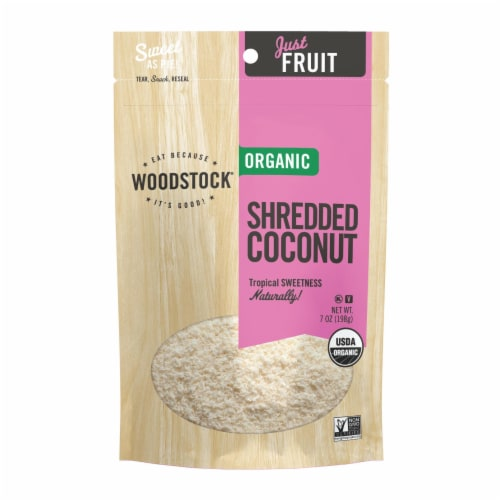 Woodstock Organic Shredded Coconut - Case of 8 - 7 OZ Perspective: front