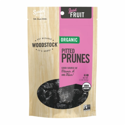Woodstock Organic Pitted Prunes - Case of 8 - 11 OZ Perspective: front