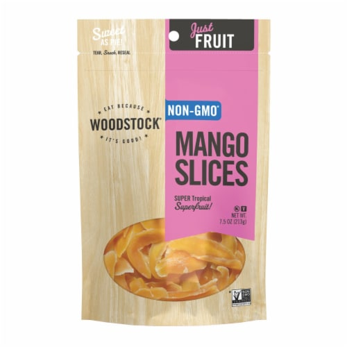 Woodstock Sweetened Mango Slices - Case of 8 - 7.5 OZ Perspective: front
