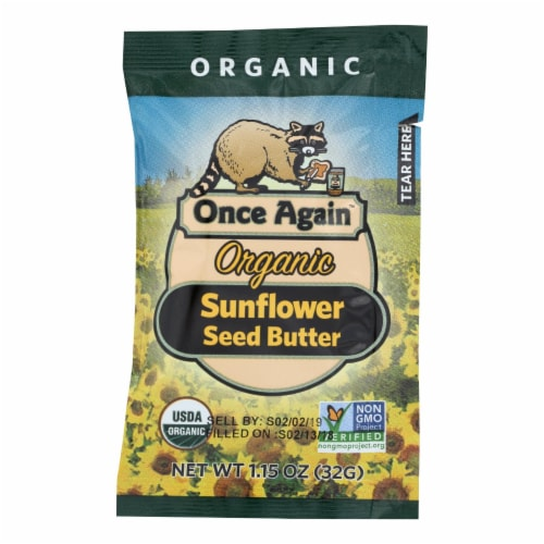 Once Again Organic Sunflower Seed Butter  - Case of 10 - 1.15 OZ Perspective: front