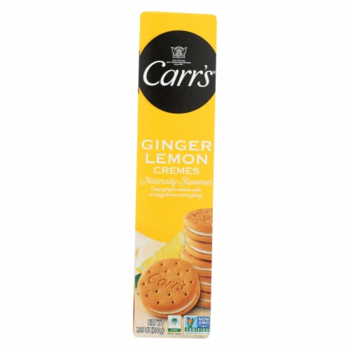 Carr's - Cookies - Lemon Ginger Creme - Case of 8 - 7.05 oz. Perspective: front