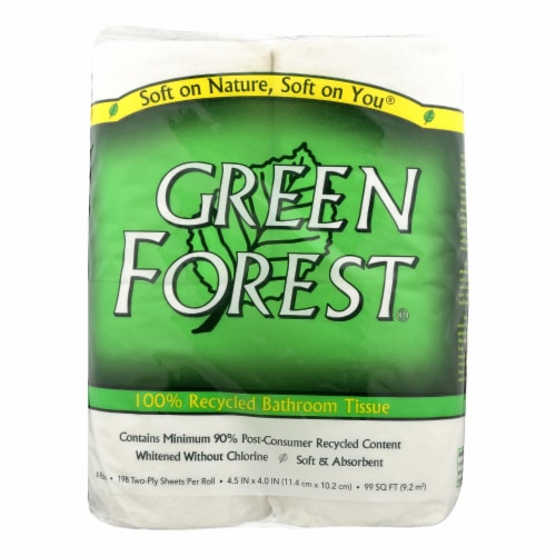 Green Forest Premium Bathroom Tissue - Unscented 2 Ply - Case of 24 Perspective: front