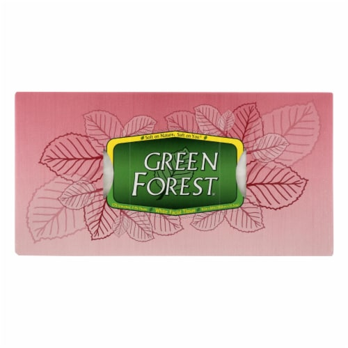 Green Forest Facial Tissues - White - Case of 24 - 175 Count Perspective: front