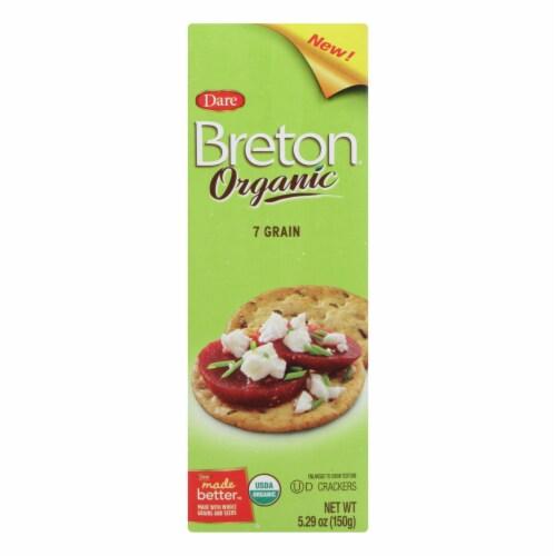 Breton/Dare - Cracker - Organic 7 Grain - Case of 6 - 5.29 oz. Perspective: front