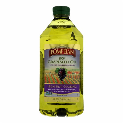 Pompeian 100% Grapeseed Oil - Case of 8 - 68 FZ Perspective: front