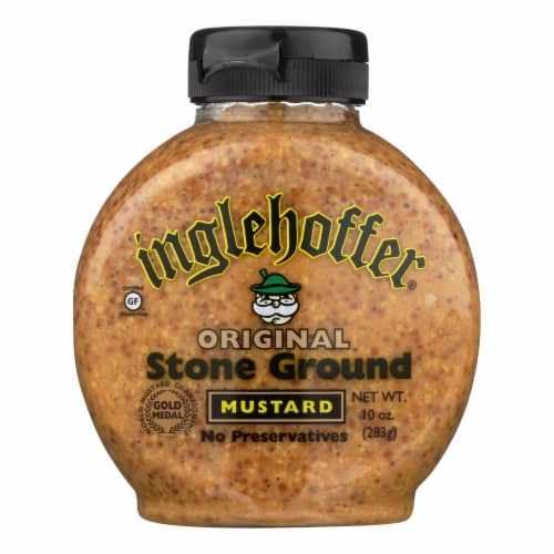 Inglehoffer - Mustard - Original Stone Ground - Case of 6 - 10 oz. Perspective: front