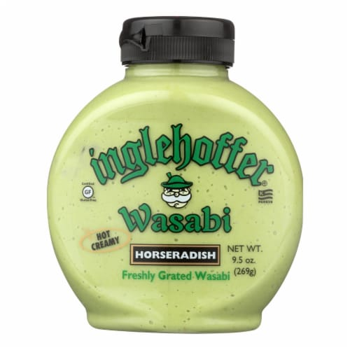 Inglehoffer - Wasabi Horseradish - Case of 6 - 9.5 oz. Perspective: front