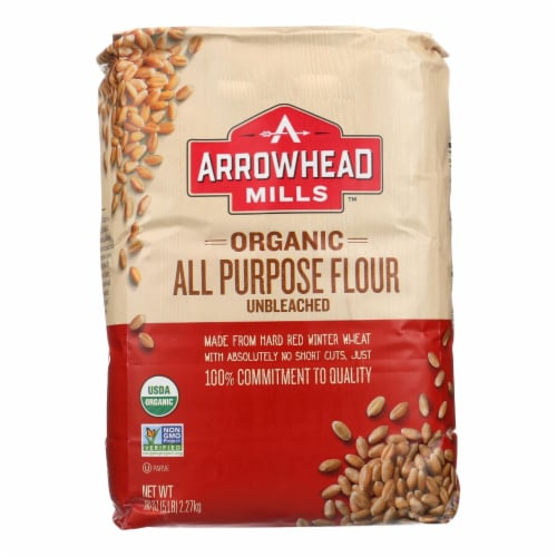 Arrowhead Mills - Organic Enriched Unbleached White Flour - Case of 8 - 5 Perspective: front