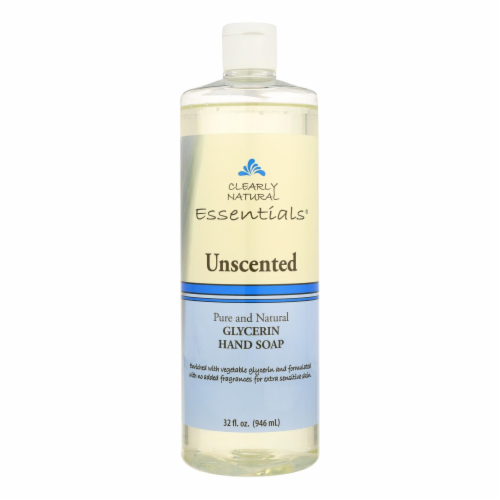 Clearly Natural Hand Soap - Liquid - Unscented - Refill - 32 oz Perspective: front
