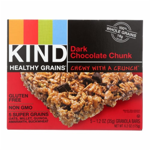 Kind Bar - Granola - Healthy Grains - Dark Chocolate Chunk - 5/1.2 oz - case of 8 Perspective: front