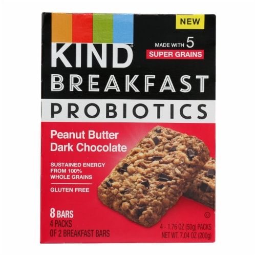 Kind - Breakfast Br Prob Pb Dark Chocolate - Case of 8 - 4/1.76OZ Perspective: front