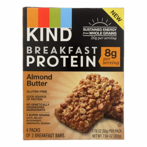 Kind Almond Butter Breakfast Bars - Case of 8 - 4/1.76OZ Perspective: front