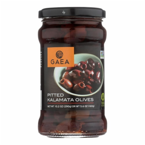 Gaea Olives - Kalamata - Pitted - 5.6 oz - case of 8 Perspective: front