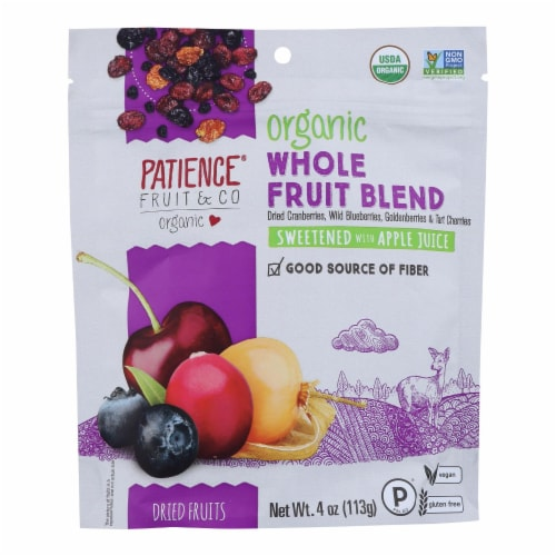 Patience Fruit and Co - Whole Berry Blend Mixed Berries - Case of 8 - 4 oz Perspective: front