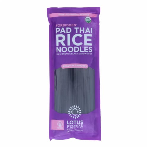 Lotus Foods Noodles - Organic - Forbidden Pad Thai - Case of 8 - 8 oz Perspective: front
