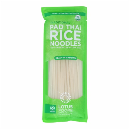 Lotus Foods Noodles - Organic - Traditional Pad Thai - Case of 8 - 8 oz Perspective: front