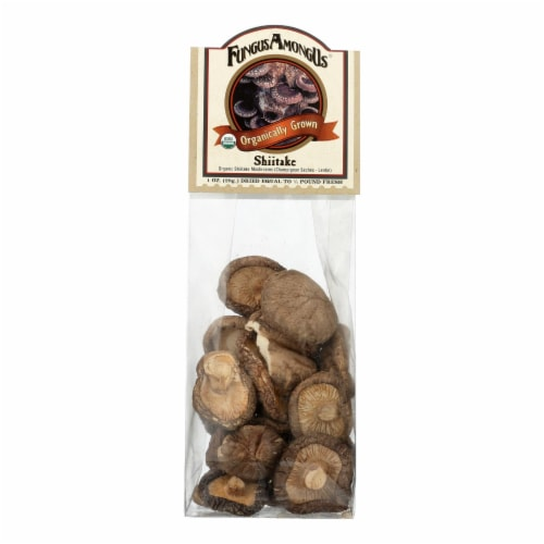 Fungus Among Us Mushrooms - Organic - Dried - Shiitake - 1 oz - case of 8 Perspective: front