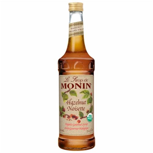 Monin Organic Hazelnut Flavor Syrup, 750 Milliliter -- 6 per case. Perspective: front