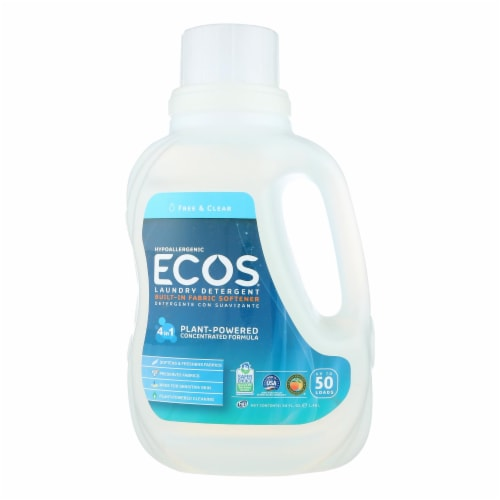 Earth Friendly Free and Clear Laundry Detergent - Case of 8 - 50 FL oz. Perspective: front